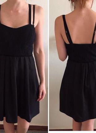 Супер нарядное стильное черное маленькое платье сукня zara бюстье с вышивкой2 фото
