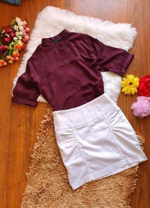 Tally weijl, белая короткая юбка (размер s)