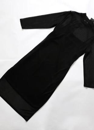 Новое черное  платье с вышивкой atmosphere3 фото