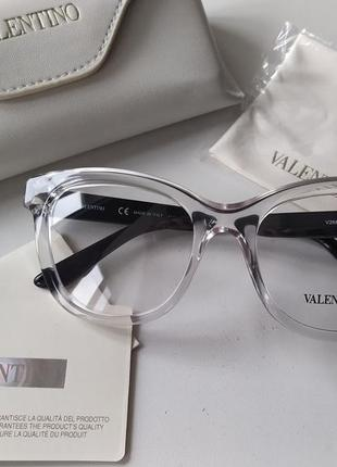 Новая, умопомрачительная оправа vаlеnтinо очки премиум прозрачная черный лак валентино
