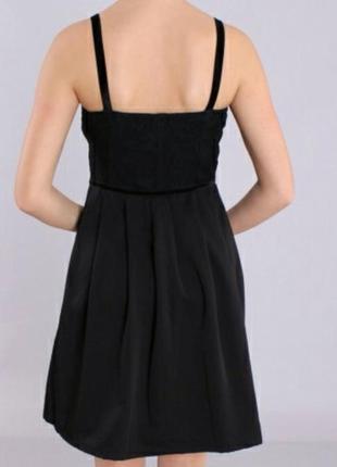 Супер нарядное стильное черное маленькое платье сукня zara бюстье с вышивкой3 фото