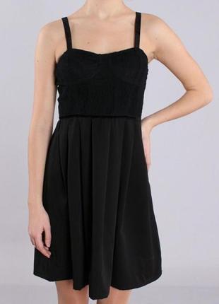 Супер нарядное стильное черное маленькое платье сукня zara бюстье с вышивкой4 фото