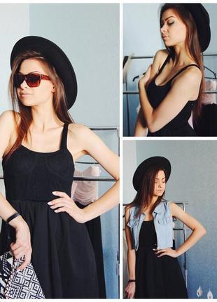 Супер нарядное стильное черное маленькое платье сукня zara бюстье с вышивкой