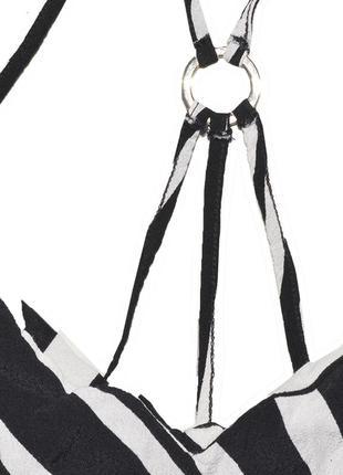 Платье полосатое с железным кольцом new look3 фото