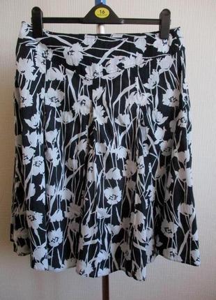 100% хлопок! юбка в цветочный принт dorothy perkins3 фото
