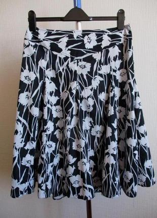 100% хлопок! юбка в цветочный принт dorothy perkins