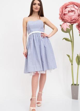 Платье женское цвет сине-белый