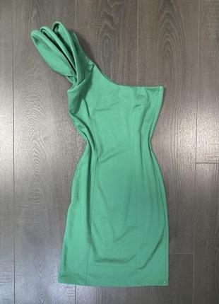 Платье нарядное изумрудное