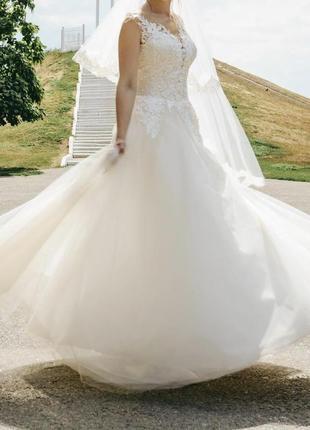 Нежное и воздушное свадебное платье