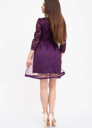 Платье женское цвет фиолетовый3 фото