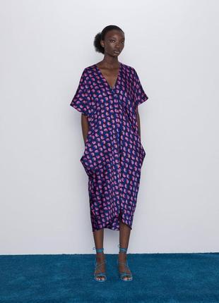 Моя любовь💕стильное платье оверсайз,кимоно zara с карманами (м и больше см.замеры)