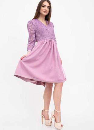 Платье женское цвет сиреневый2 фото