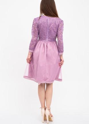 Платье женское цвет сиреневый3 фото