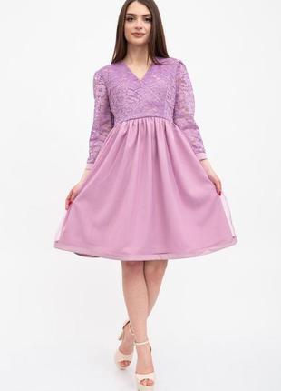 Платье женское цвет сиреневый1 фото