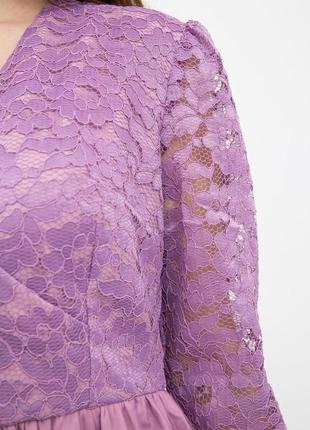 Платье женское цвет сиреневый4 фото