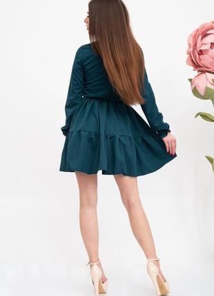 Платье женское цвет темно-зеленый3 фото