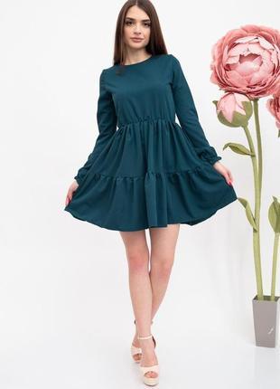 Платье женское цвет темно-зеленый2 фото