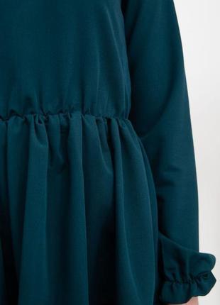 Платье женское цвет темно-зеленый4 фото