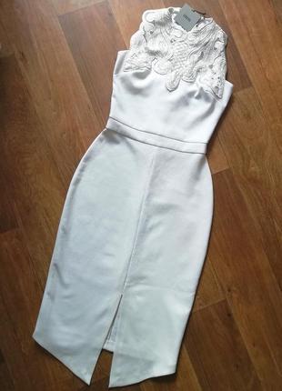 👗asos шикарное платье карандаш миди, сукня, плаття футляр с разшитым верхом