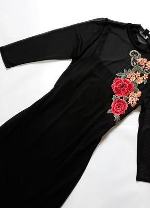 Новое черное  платье с вышивкой atmosphere2 фото