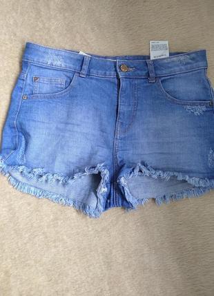 Шорты джинсовые,высокая посадка