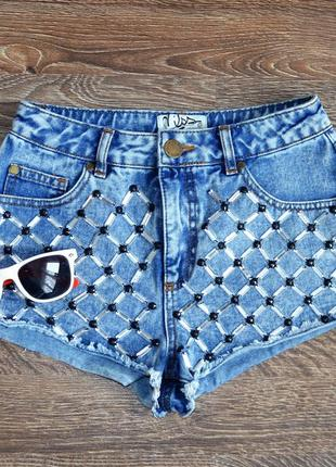 Стильные джинсовые шорты miss denim ® размер : 36