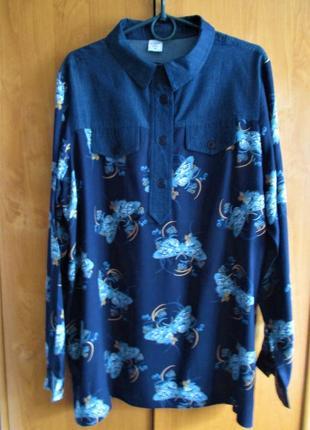 Стильная блуза-рубашка большого размера, uk 18, наш 52-54 размер2 фото