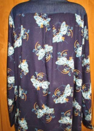 Стильная блуза-рубашка большого размера, uk 18, наш 52-54 размер8 фото