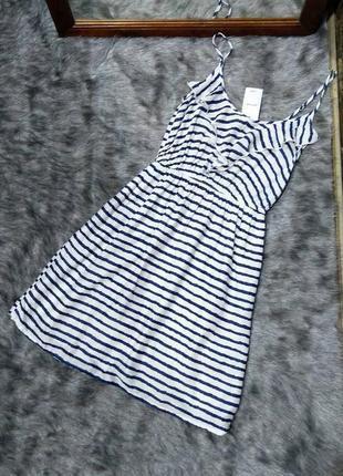 Новое! платье на бретелях в полоску pimkie