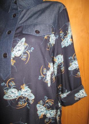 Стильная блуза-рубашка большого размера, uk 18, наш 52-54 размер10 фото