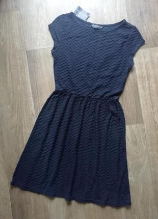 Стильное рельефное платье, сукня, котоновое  плаття, сарафан1 фото