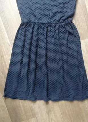 Стильное рельефное платье, сукня, котоновое  плаття, сарафан4 фото