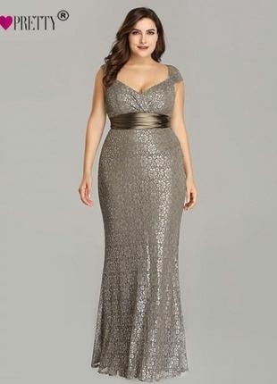 Шикарное стрейч кружевное платье рыбка 26/60-62 размера