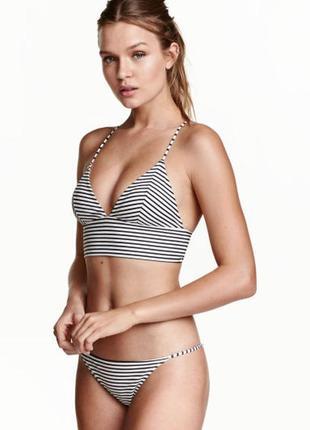 👙 swim sale 👙 универсальные плавки, низ от купальника в мелкую полоску h&m 34, 36, 38, 42