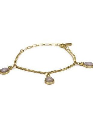 Браслет цепочка с подвесками из натурального агата pilgrim дания ювелирная бижутерия