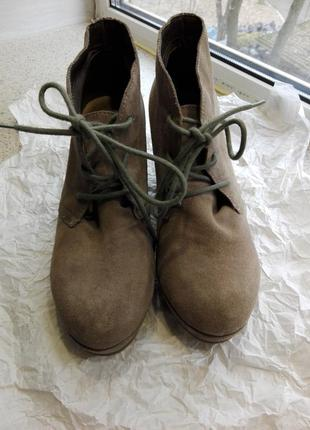 Замшевые ботинки от aldo