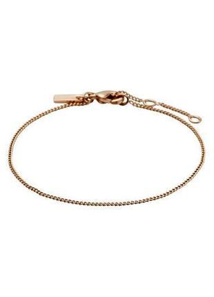 Браслет цепочка позолоченный розовое золото pilgrim дания элитная ювелирная бижутерия