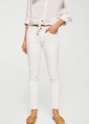 Летние белые штаны коттоновые, джинсы up fashion