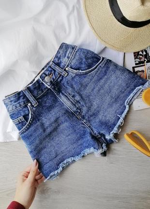 Стильные базовые джинсовые шорты синие