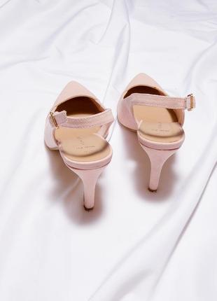 Замшевые босоножки на каблуке, закрытые босоножки на среднем каблуке, босоніжки7 фото