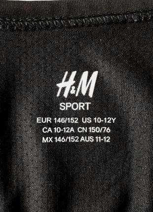 Спортивный топ с надписью на девочку 10-12 лет h&m3 фото