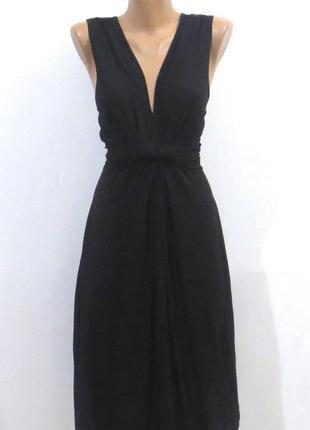 Роскошное длинное черное платье стройнит размер: 48-50-l