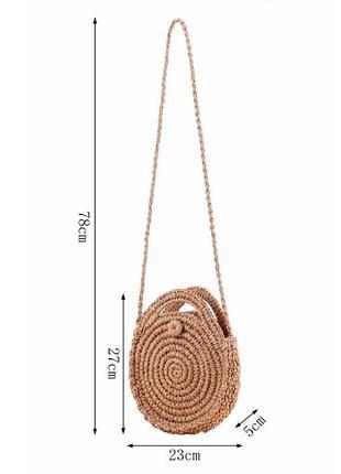 Соломенная сумочка3 фото
