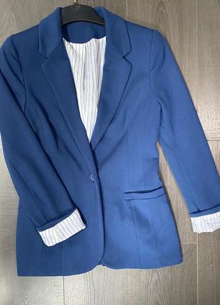 Пиджак синий бойфренд