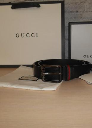 Ремень пояс мужской  gucci кожа, италия, оригинал 206