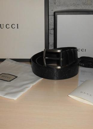 Ремень пояс мужской  gucci кожа, италия, оригинал 207