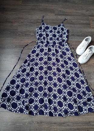 Стильное платье-трацеция/ сарафан