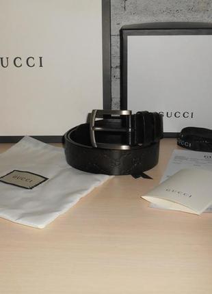 Ремень пояс мужской  gucci кожа, италия, оригинал 208