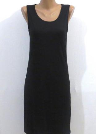 Стильное черное платье от yessica размер: 42-44-s