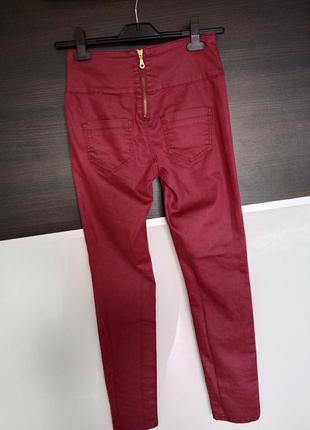 Классные штаны, джеггинсы, лоссины с пропиткой замочек на попе pieces высокая талия